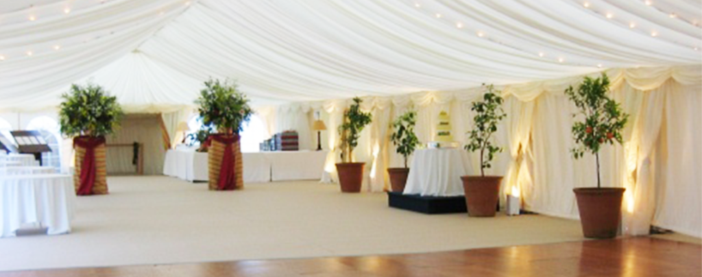 Corporate reception with parquet flooring