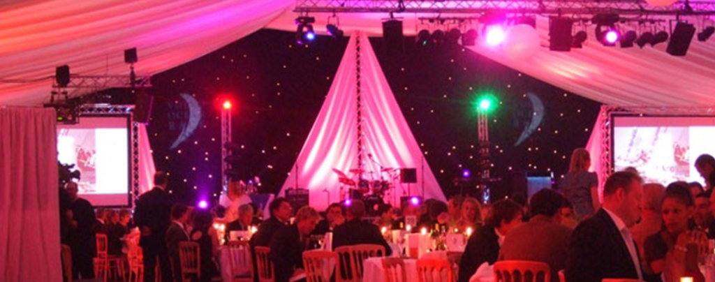 Setting the mood at a company awards ceremony