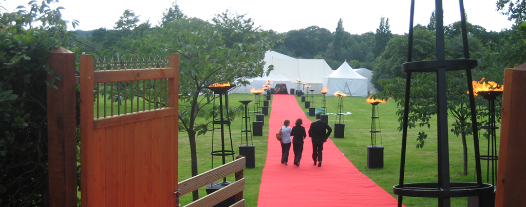 Grand entrance for a corporate do