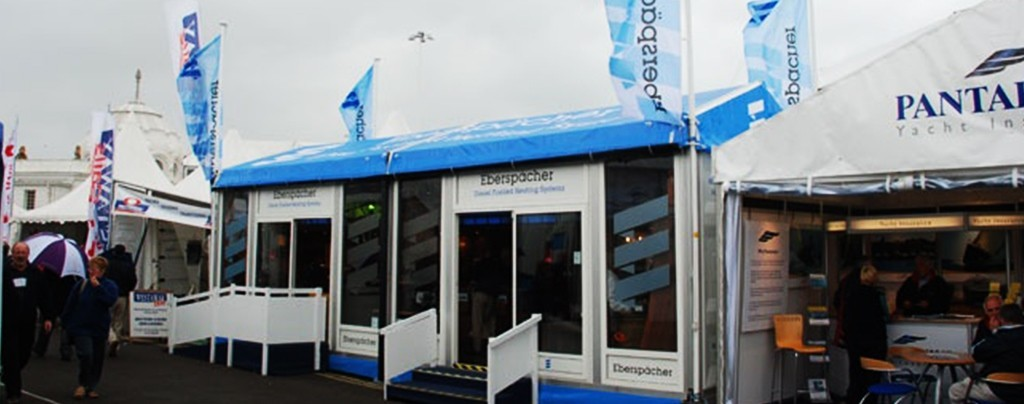 Branded rigid marquees at large expo