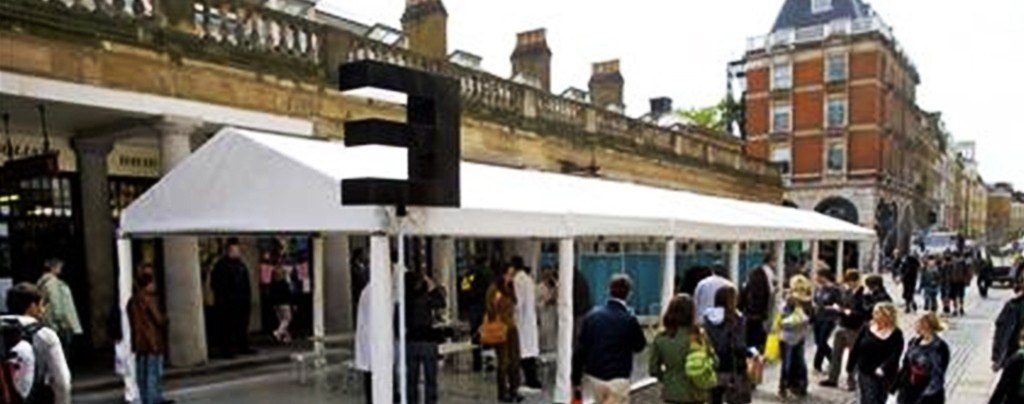 Experiential event in Covent Garden
