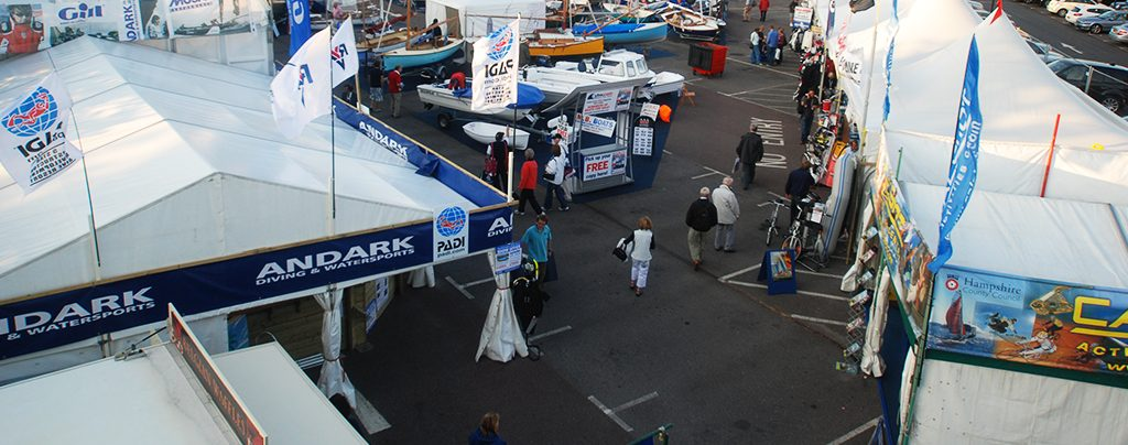 Huge range of marquees for exhibitors at Southampton