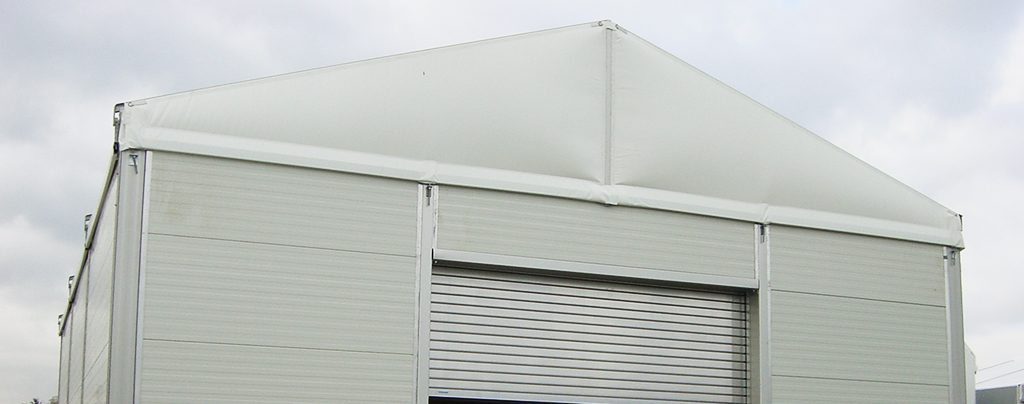 Large storage facility with rolling shutter