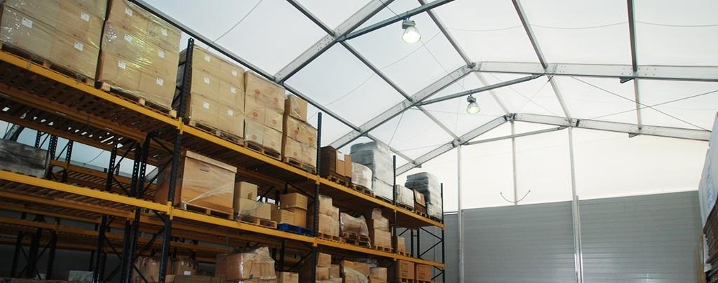 Large temporary warehouse plenty of storage space