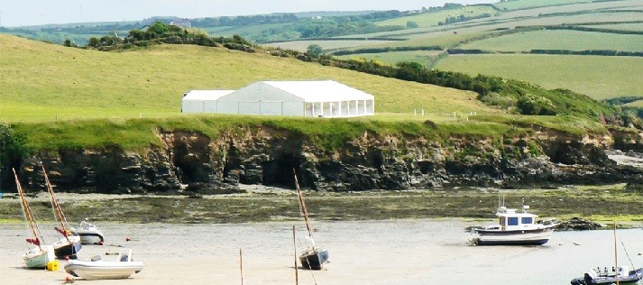 porthilly farm wedding marquee hire