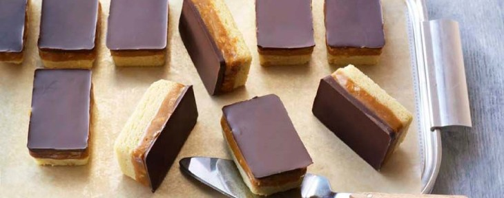 Great British Bake Off Wedding Desert - Liam's Salted Peanut Millionaire's Shortbread