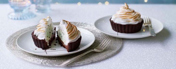 Great British Bake Off Wedding Desert - Sandy's After-Dinner Mint Surprise Alaska Tartlets