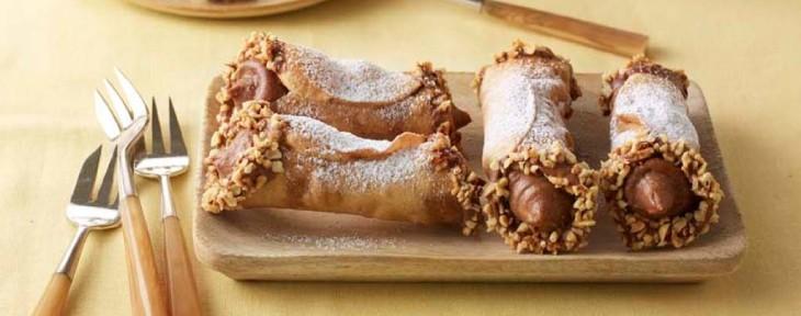 Great British Bake Off Wedding Desert - Sophie's Gianduja Cannoli