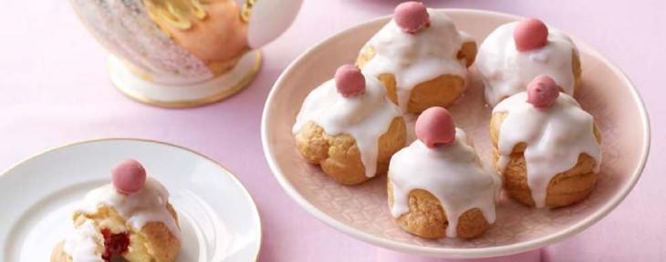 Great British Bake Off Wedding Desert - Steven's Bakewell Tart Choux Buns